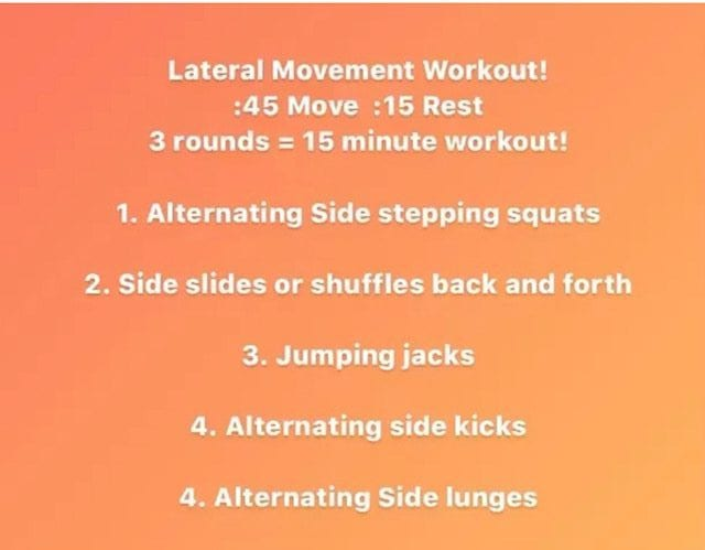 Lateral Moves Workout