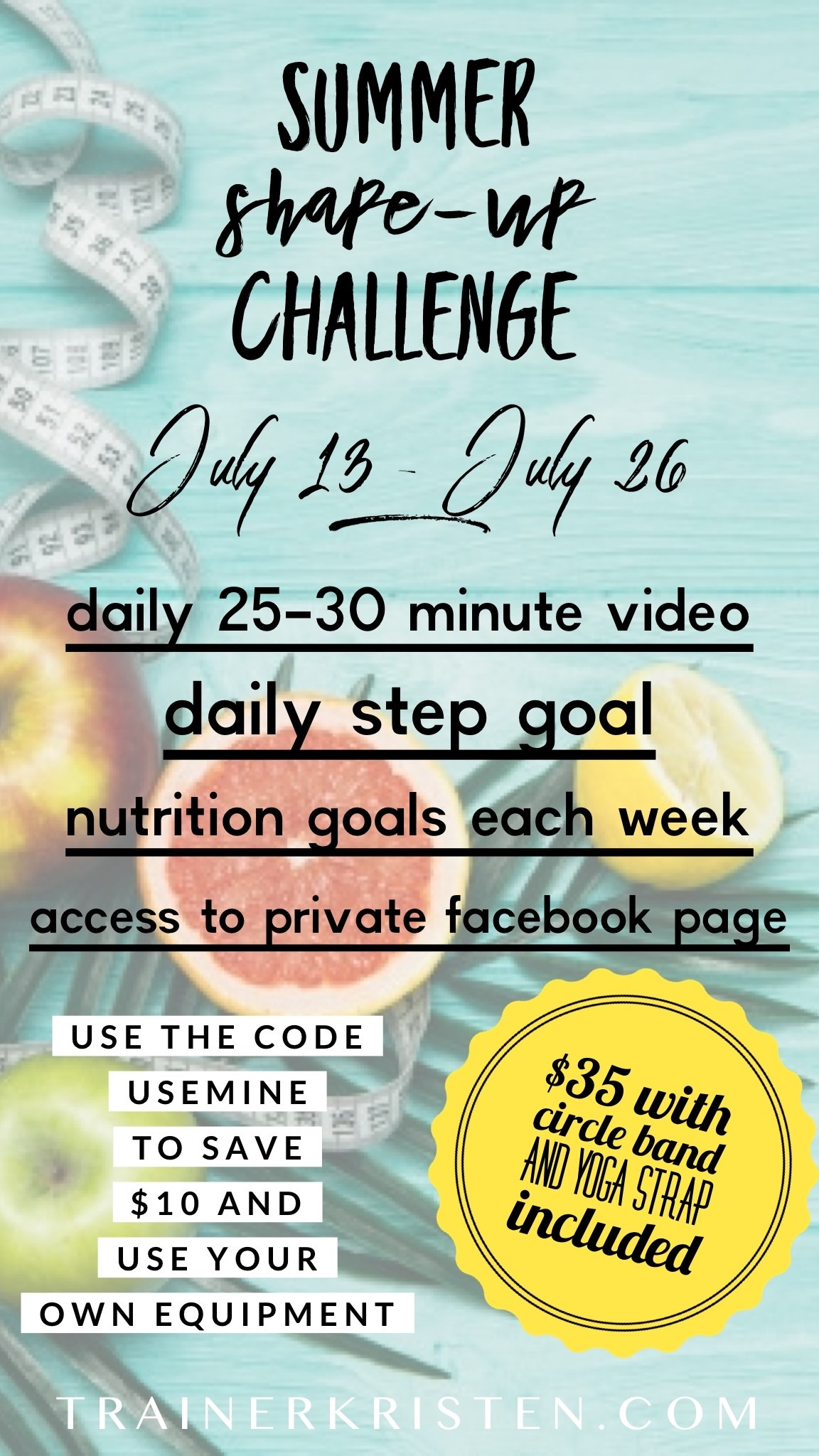 Summer Shape-Up Challenge