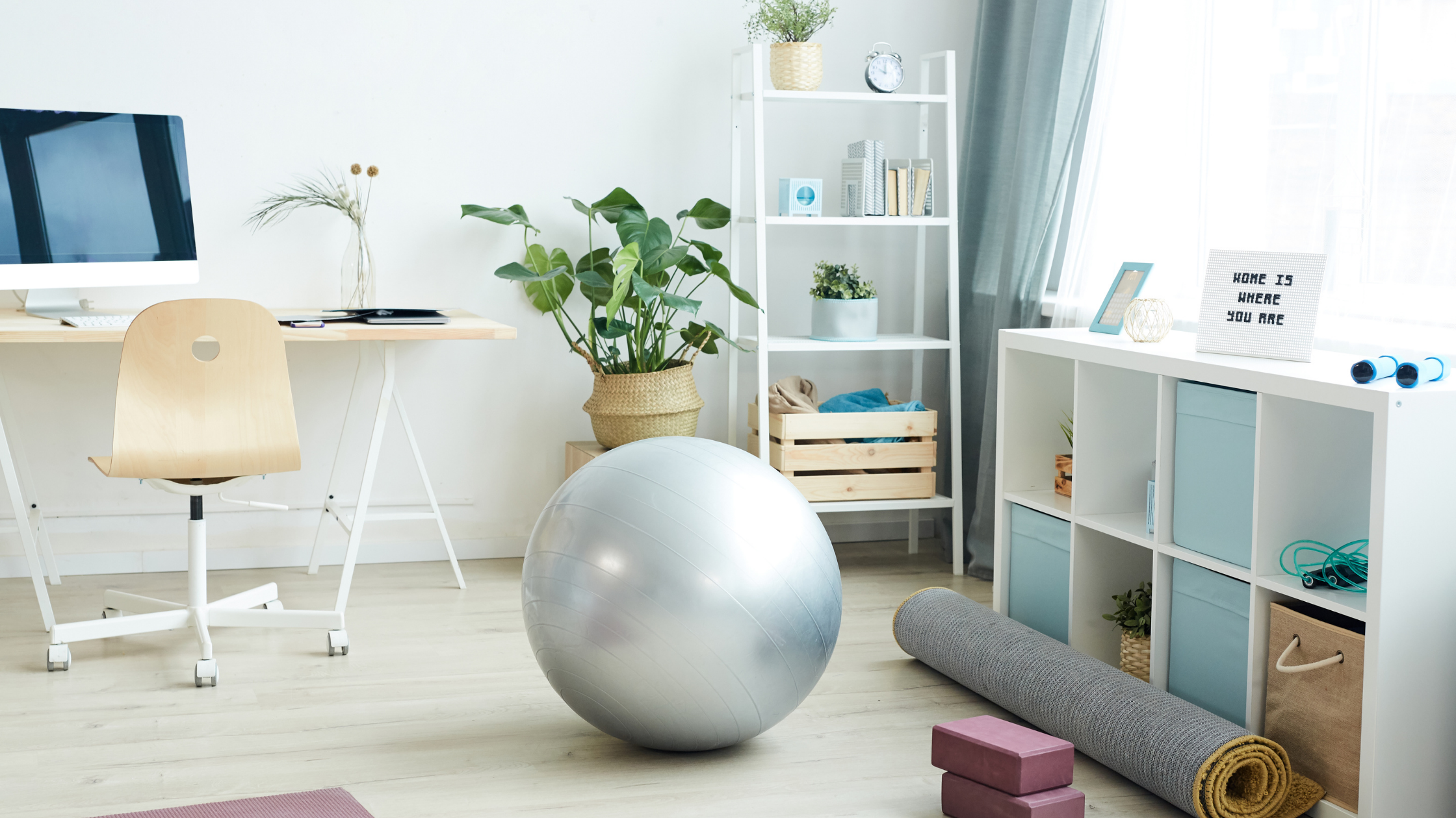 Declutter your home, and the space you'll dedicate to your health and wellness